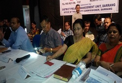 ADC Darrang, Srimati Bijoya Choudhury attends a meeting on Application Receipt conducted recently.