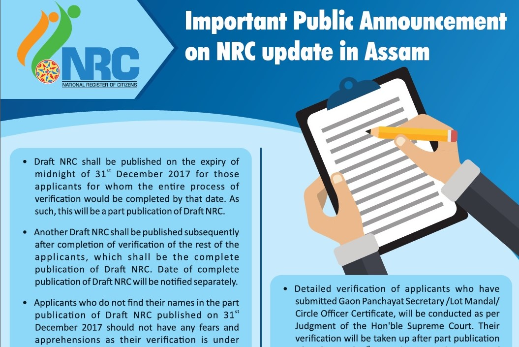 Office of the state coordinator of national registration nrc assam quarter page ad on 5 ways to check your name in part publication of draft nrc bengali dated 27 12 2017 thecheapjerseys Images