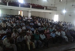 A view of the packed Public Auditorium in Dhemaji district during a sesssion conducted on NRC Updation held on 13th May, 2015.