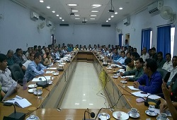 LRCRS and CRCRs attend a meeting organised on 2nd phase training of NRC Updation process in Morigaon recently.