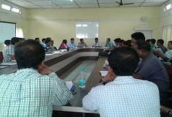 Meeting on NRC Updation organised in Chirang at DC Office on 13th May, 2015. Attendees include DC, ADC, CRCR, LRCRs and other local officers.