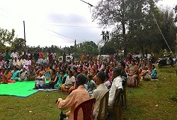 Public attends an awareness meeting on Distribution & Receipt of Application Form organised recently in Dudhnoi Cicrcle, Goalpara.