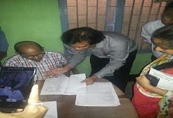 Shri Prateek Hajela, IAS and State Coordinator NRC, Assam during an exercise on how to arrange documents submitted along with the Application Forms.