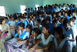 Students attend an awareness camp held on NRC Updation organised at a Higher Secondary School under Halem Circle in Sonitpur that concluded recently.