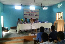 Training cum meeting with LRCRs, FLOs and Local Officers of Silonijan Circle, Karbi Anglong on Distribution and Receipt of Application Form held on 26th May, 2015.