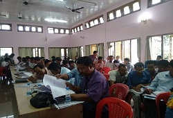 LRCRs, CRCRs, ACRCRs, LOs and CPSs attend a demonstration session on Application Form Fill up and Receipt organised at Diphu, Karbi Anglong on 4th June, 2015.