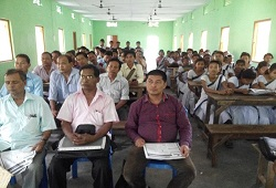 Awareness meeting on Application Form Fill Up organised in Deopani, Karbi Anglong on 8th June, 2015