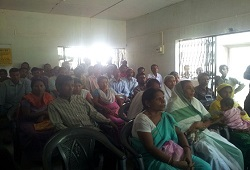 FLOs at a training session held on Distribution and Receipt of Application Form held at Bargaon NSK, Thelamara in Sonitpur district on 20th May, 2015.