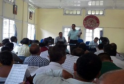 LRCRs and Local Officers attend a training session on Application Form held in Dhekiajuli Circle of Sonitpur on 22nd May, 2015.