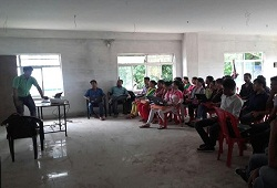 Training session in progress on Verification Process in Karbi Anglong District conducted recently - September 2015.